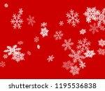 snow flakes falling macro...   Shutterstock .eps vector #1195536838