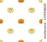 jack o lantern elements... | Shutterstock . vector #1195538035