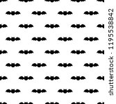 seamless pattern with bats.... | Shutterstock . vector #1195538842