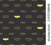 seamless pattern with bats.... | Shutterstock . vector #1195538848