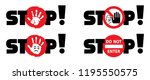 stop sign do not enter danger... | Shutterstock .eps vector #1195550575