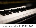 close up detail of the piano... | Shutterstock . vector #1195561948