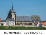 saint denis de l hotel village... | Shutterstock . vector #1195564342