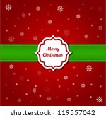 christmas greeting card | Shutterstock .eps vector #119557042