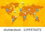 explore travel the world | Shutterstock .eps vector #1195576372