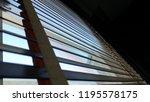 evening sun light outside with... | Shutterstock . vector #1195578175