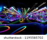 light painting with long... | Shutterstock . vector #1195585702