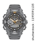 realistic clock watch sport...   Shutterstock .eps vector #1195591135