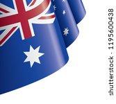 australia flag  vector... | Shutterstock .eps vector #1195600438