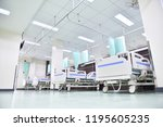an ambulatory bed with... | Shutterstock . vector #1195605235