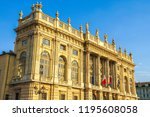 view on the palazzo madam... | Shutterstock . vector #1195608058