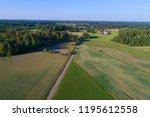 rural landscape of southern...   Shutterstock . vector #1195612558
