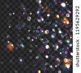 vector christmas boke background   Shutterstock .eps vector #1195629292