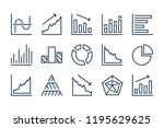 graph and chart line icons....
