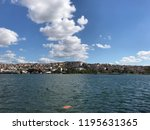 golden horn with ships and... | Shutterstock . vector #1195631365