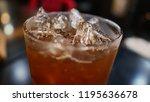 lemon iced tea on the table | Shutterstock . vector #1195636678