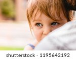 toddler baby girl and her... | Shutterstock . vector #1195642192