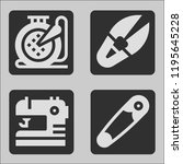 vector sewing icon for use of... | Shutterstock .eps vector #1195645228
