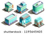 vector set of isometric modern... | Shutterstock .eps vector #1195645405