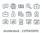 finance and money line icons....