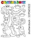 Coloring Book Australian Fauna...