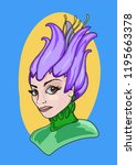 bust of a woman dressed or...   Shutterstock .eps vector #1195663378