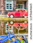 broken and abundoned retro... | Shutterstock . vector #1195664665