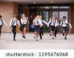 group of high school students... | Shutterstock . vector #1195676068