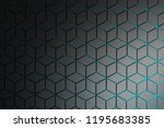 pattern with rhombuses and... | Shutterstock . vector #1195683385