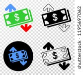 banknotes exchange arrows eps... | Shutterstock .eps vector #1195697062