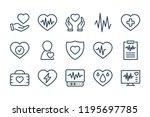 heart medical line icons....   Shutterstock .eps vector #1195697785