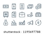finance and payment line icons. ... | Shutterstock .eps vector #1195697788