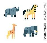 herbivore icon set. vector set... | Shutterstock .eps vector #1195698748