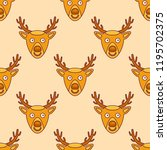 seamless pattern with christmas ... | Shutterstock .eps vector #1195702375