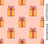 seamless pattern with christmas ... | Shutterstock .eps vector #1195703152