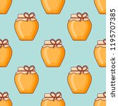 seamless pattern with jar of... | Shutterstock .eps vector #1195707385