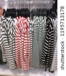 hanging in interior of sale in... | Shutterstock . vector #1195713178