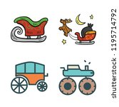 action icon set. vector set... | Shutterstock .eps vector #1195714792