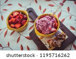 organic strawberries  homemade... | Shutterstock . vector #1195716262