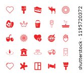 decoration icon. collection of... | Shutterstock .eps vector #1195720372