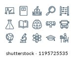 school and study line icons....   Shutterstock .eps vector #1195725535