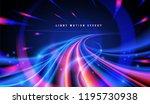abstract curvy light trails | Shutterstock .eps vector #1195730938