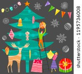 group of little people... | Shutterstock .eps vector #1195736008