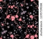 little flowers. seamless... | Shutterstock .eps vector #1195739038