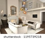 interior visualization  3d... | Shutterstock . vector #1195739218