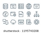web support line icons. vector...