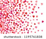 ruby red flying hearts bright... | Shutterstock .eps vector #1195761838