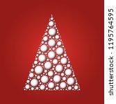 white christmas tree of white...   Shutterstock .eps vector #1195764595