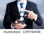 customer service evaluation and ... | Shutterstock . vector #1195766038
