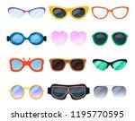 cartoon eyeglasses  spectacles... | Shutterstock .eps vector #1195770595